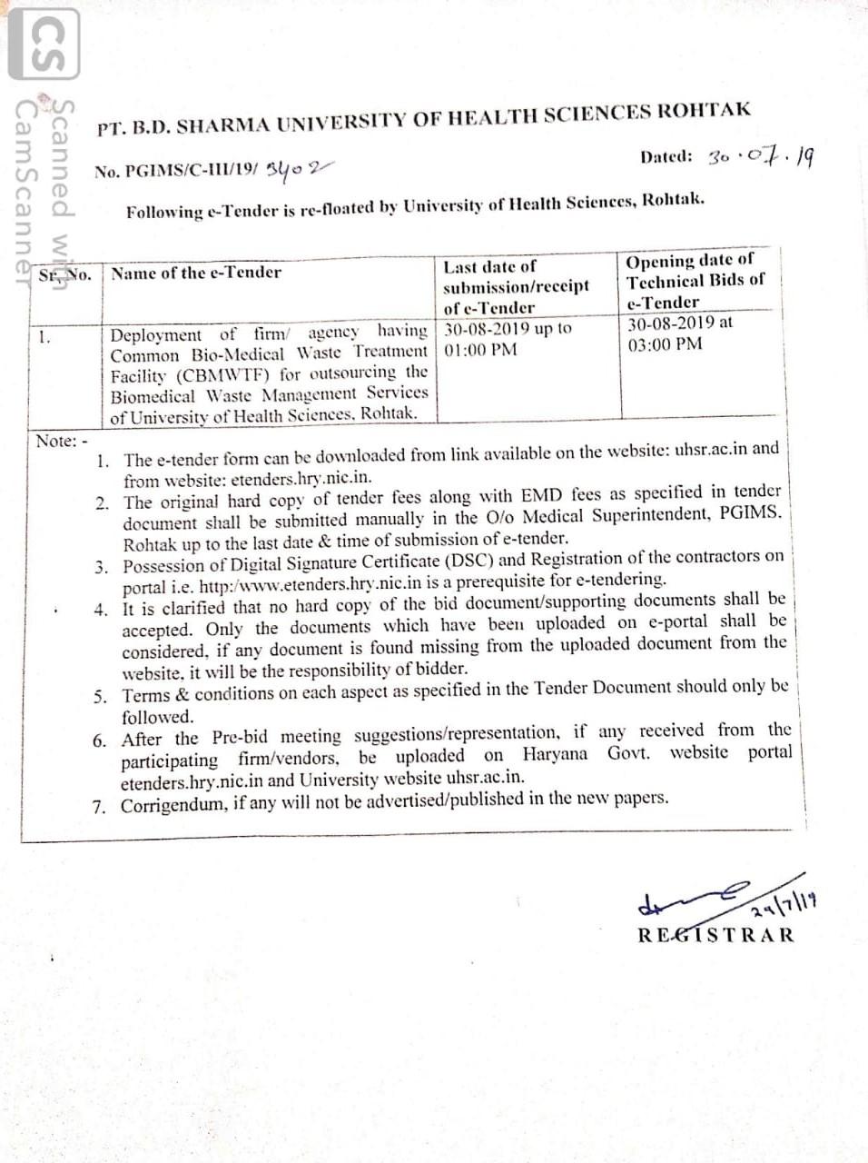 UHSR: Pt  Bhagwat Dayal Sharma University of Health Sciences, Rohtak